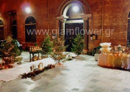 Χριστουγεννιάτικη διακόσμηση γάμου στην Αγία Σοφία Θεσσαλονίκης