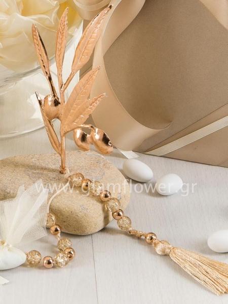 39b44d327e04 Μπομπονιέρα γάμου βότσαλο κλαδί ελιάς