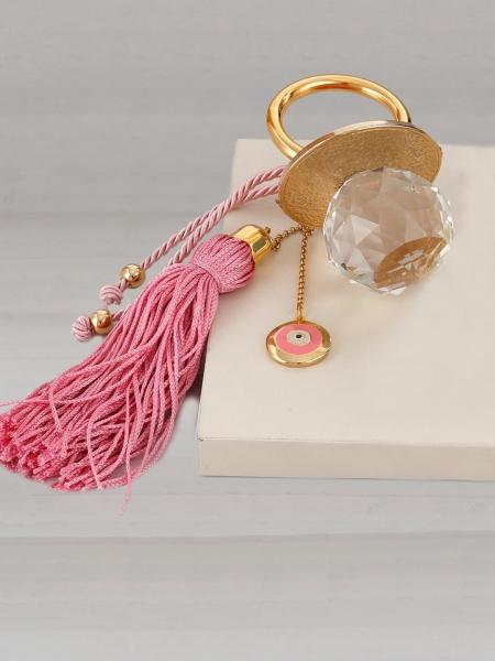 Δώρο για νεογέννητο πιπίλα ροζ
