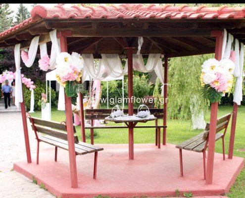 Γάμος τροπικός και βάπτιση με flamingo στο Κτήμα Γκούντα