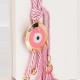 Δώρο για νεογέννητο γούρι ροζ με μάτι
