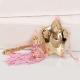 Δώρο για νεογέννητο κουδουνίστρα αστέρι ροζ