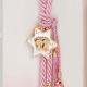 Δώρο για νεογέννητο γούρι ροζ αστέρι πατούσες
