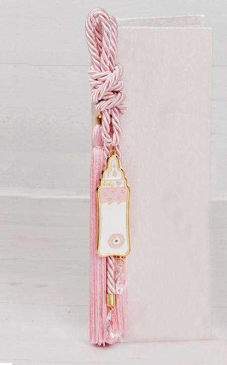 Δώρο για νεογέννητο γούρι μπιμπερό με κρύσταλλα