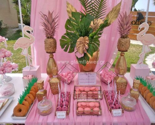 Στολισμός βάπτιση flamingo στη Χαλκιδική