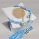 Δώρο για νεογέννητο γούρι μαξιλάρι σιέλ Κωνσταντινάτο
