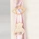 Δώρο για νεογέννητο γούρι ροζ με μάτι και αρκουδάκι