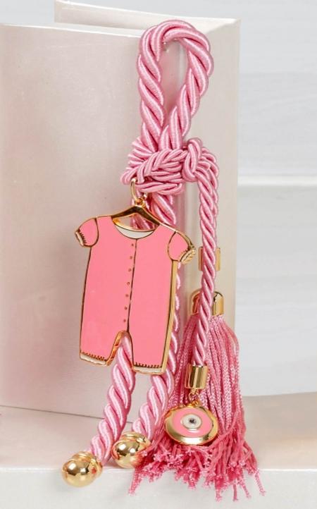 Δώρο για νεογέννητο γούρι ροζ φορμάκι